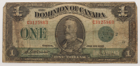 1923 $1 One Dollar The Dominion of Canada Large Size Bank Note at PristineAuction.com