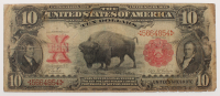 1901 'Bison' $10 Ten Dollars Red Seal Legal Tender Large Size Bank Note Bill