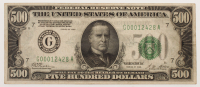 1928 $500 Five Hundred Dollars Federal Reserve Note