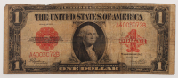 1923 $1 One Dollar Red Seal Large Size Legal Tender Bank Note Bill at PristineAuction.com