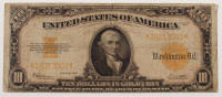 1922 $10 Ten Dollars U.S. Gold Certificate Large Size Bank Note