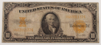 1922 $10 Ten Dollars U.S. Gold Certificate Large Size Bank Note at PristineAuction.com