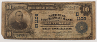 1902 $10 Ten Dollars U.S. National Currency Large Bank Note - The National Exchange Bank of Baltimore, Maryland at PristineAuction.com