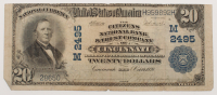 1902 $20 Twenty Dollars U.S. National Currency Large Bank Note - The Citizens National Bank & Trust Company of Cincinnati, Ohio at PristineAuction.com