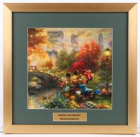 "Thomas Kinkade Walt Disney's ""Mickey & Minnie Mouse"" 17.5x18 Custom Framed Print Display"