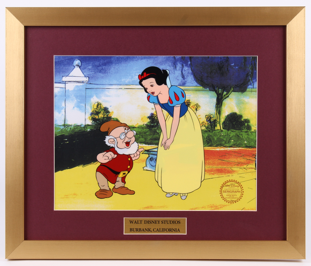 "Walt Disney's ""Snow White and the Seven Dwarfs"" 16x19 Custom Framed Animation Sericel Display at PristineAuction.com"