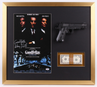 "Henry Hill Signed LE ""Goodfellas"" 23x26 Custom Framed Photo Display Inscribed ""Goodfella"" with Replica Gun & Prop Money (PSA COA)"