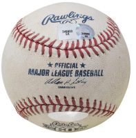 Derek Jeter Signed OML Baltimore Orioles 60th Anniversary Game-Used Baseball (Seiner COA & MLB Hologram) at PristineAuction.com