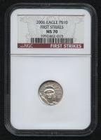 2006 $10 Platinum Eagle Statue of Liberty 1/10 Oz Platinum Coin - First Strikes (NGC MS 70) at PristineAuction.com