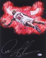 Dennis Rodman Signed Chicago Bulls 11x14 Photo (Beckett COA) at PristineAuction.com