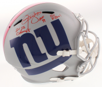 """Lawrence Taylor Signed New York Giants AMP Alternate Full-Size Speed Helmet Inscribed """"2x SB Champs,"""" """"HOF 99"""" & """"10x P. Bowl"""" (PSA COA) at PristineAuction.com"""