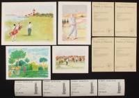 "Lot of (4) Artist Signed Golf Lithographs including LE ""Lighthouse Links"", LE ""In The Rough"", LE ""On The Green"", & LE ""The Pitch"" (Fine Art Sales COA) at PristineAuction.com"