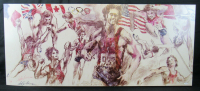 "LeRoy Neiman Signed LE 1976 Montreal Olympics ""Bruce Jenner Decathlon"" 21x49 Lithograph (JSA COA)"