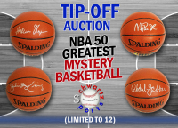 Schwartz Sports Tip-Off Auction NBA 50 Greatest Signed NBA Spalding Basketball Mystery Box – (Limited to 12)