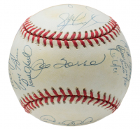 1998 New York Yankees World Series Baseball Team-Signed by (20) with Derek Jeter, Mariano Rivera, Joe Torre, Tim Raines, Paul O'Neill (Steiner Hologram)