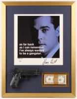 "Henry Hill Signed LE ""Goodfellas"" 21x27 Custom Framed Photo Display with Replica Gun & Prop Money (PSA COA)"