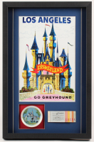 Disneyland Hotel 16.5x25.5x2 Custom Framed Shadowbox Poster Print Display with Vintage Dish & Ticket Booklet