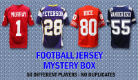 Schwartz Sports Football Superstar Signed Football Jersey Mystery Box - Series 21 (Limited to 50) - 50 Different Players – NO DUPLICATES at PristineAuction.com