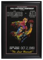 "Ceasars Palace World Heavyweight Championship ""Muhammad Ali v. Larry Holmes"" 24x30 Custom Framed Poster Display"