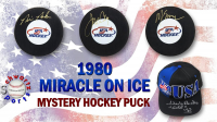 Sports 1980 USA Hockey Miracle on Ice Signed Hockey Puck Mystery Box – Series 1 (Limited to 80) - *Herb Brooks Autograph Redemption* at PristineAuction.com