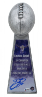 Emmitt Smith Signed Replica Lombardi Trophy (PROVA Hologram & Beckett COA)