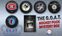 Schwartz Sports The G.O.A.T. Hockey Superstar Signed Hockey Puck Mystery Box - Series 1 (Limited to 100) (Pristine Exclusive Edition)