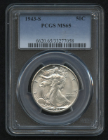 1943-S 50¢ Walking Liberty Silver Half Dollar (PCGS MS 65) at PristineAuction.com