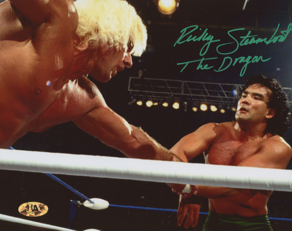 "Ricky ""The Dragon"" Steamboat Signed WWE 8x10 Photo (MAB Hologram) at PristineAuction.com"