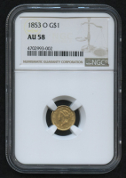 1853-0 $1 Liberty Head Gold Coin (NGC AU 58) at PristineAuction.com