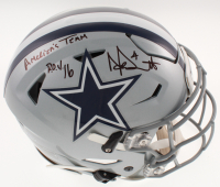 "Dak Prescott Signed Cowboys Full-Size Authentic On-Field SpeedFlex Helmet Inscribed ""R.O.Y. 16"" & ""America's Team"" (Beckett COA & Prescott Hologram) at PristineAuction.com"