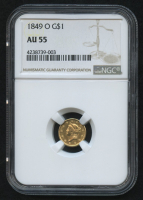 1849-0 $1 Liberty Head Gold Coin (NGC AU 55) at PristineAuction.com