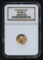 2002 $5 Five Dollars American Gold Eagle Saint-Gaudens 1/10 Oz Gold Coin (NGC MS 69)