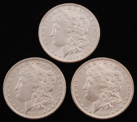 Lot of (3) Morgan Silver Dollars with 1883-O, 1884-O, & 1885-O at PristineAuction.com