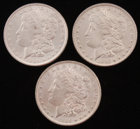 Lot of (3) Morgan Silver Dollars with 1884-O, 1885-O, & 1886 at PristineAuction.com