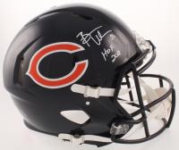"Brian Urlacher Signed Chicago Bears Full-Size Authentic On-Field Speed Helmet Inscribed ""HOF 2018"" (JSA COA)"