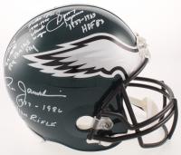 Eagles Quarterbacks Full-Size Helmet Team-Signed by (4) with Sonny Jurgensen, Randall Cunningham, Donovan McNabb & Ron Jaworski with (8) Inscriptions (Beckett COA) at PristineAuction.com