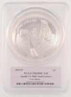 2019-P $1 Apollo 11 50th Anniversary Commemorative 5 oz Silver Coin - Proof - Deep Cameo (PCGS PR 69 DCAM) at PristineAuction.com
