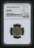 1913-D 5¢ Buffalo Nickel - Type 2 (NGC AU 58) at PristineAuction.com