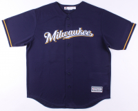 Christian Yelich Signed Milwaukee Brewers Authentic Majestic Cool Base On-Field Jersey (Beckett COA) at PristineAuction.com