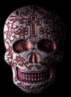 2 oz Silver Day of the Dead Sugar Skull Monarch Hand-Poured 3D .999 Fine Silver Bar - Cross