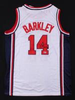 Charles Barkley Signed Team USA Jersey (Beckett COA) at PristineAuction.com
