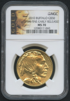 2010 $50 Buffalo Gold Coin - Early Releases (NGC MS 70)