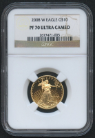 2008-W $10 Ten Dollars American Gold Eagle Saint-Gaudens - 1/4 Oz Gold Coin - Proof (NGC PF 70 Ultra Cameo) at PristineAuction.com