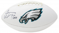"Carson Wentz Signed Eagles Logo Football Inscribed ""AO1"" (Fanatics Hologram) at PristineAuction.com"