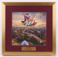 "Thomas Kinkade Walt Disney's ""Aladdin"" 17.5x18 Custom Framed Print Display"