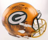 Jordy Nelson Signed Green Bay Packers Full-Size Authentic On-Field Hydro-Dipped Speed Helmet (JSA Hologram)