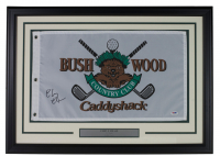 "Chevy Chase Signed ""Caddyshack"" Bushwood 20x28 Custom Framed Pin Flag Display (PSA COA) at PristineAuction.com"