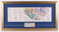 Disneyland 15x28.5 Custom Framed 1959 Original Map Display with Ticket Booklet