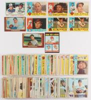 Lot of (250+) Assorted Baseball Cards with 1960 Topps #408 Carl Furillo, #420 Eddie Mathews, 1955 Bowman #101B Don Johnson, 1978 Topps #206 Strikeout Leaders / Phil Niekro / Nolan Ryan, 1955 Bowman #195A Erv Palica