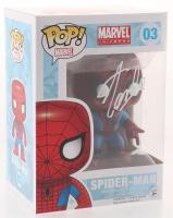 """Stan Lee Signed """"Marvel"""" Spider-Man #03 Funko Pop! Vinyl Figure (Radtke COA & Lee Hologram) at PristineAuction.com"""